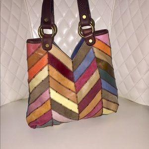 Lucky Brand Multicolor Patchwork Shoulder Bag